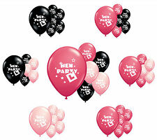 "8 x HEN PARTY 12"" HELIUM QUALITY PEARLISED HEN NIGHT BALLOONS IN 3 COLOURS"
