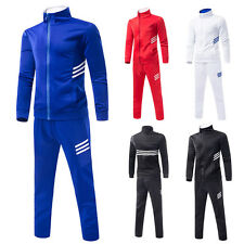 New Mens Slim Fit Sport Suit Jogging Outfit Tracksuit Gym Jacket Pants Sweat Set