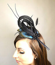 Fascinator  New Ladies Wedding Fashion Arty Peacock Feather Twist Headband