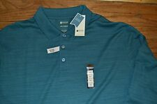 Haggar Long Sleeve Polo Shirt Size 2XLT Big & Tall MSRP $55.00 Moisture Wicking