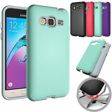For Samsung Galaxy J3 2016 Shockproof Protective Silicone Hard Armor Case Cover