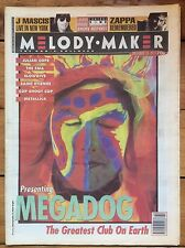 Melody Maker 18/12/93 Megadog cover, Frank Zappa, The Fall, Slowdive, Verlaines