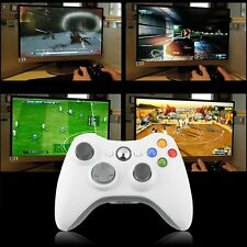 Wireless Shock Game Controller For Microsoft xBox 360 white  Handle Stand Lot I6