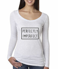 allwitty 1046 - Women's Long-Sleeve Perfectly Imperfect Box Outline