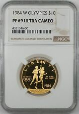 1984-W $10 Gold Olympics Commemorative Proof Coin NGC PF-69 Ultra Cameo