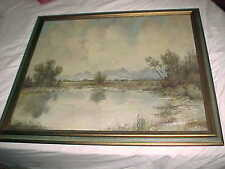 estate PAINTING -  OIL on BOARD  RIVER SCENE