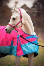 Love My Horse 1200D Rainsheet 5'3 - 6'6 Detachable Neck Waterproof Rug Pink