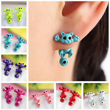 1 Pair Fashion Jewelry Women Girls Earring 3D Cute Animal Polymer Clay Ear Stud