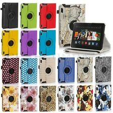"For 2014 Amazon Kindle Fire HD 6"" 7"" 360 Degree Rotating PU Leather Case Cover"