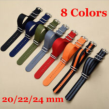 Quality Watch Strap Band Military Army Nylon Mens Wristwatch Band 20mm 22mm 24mm