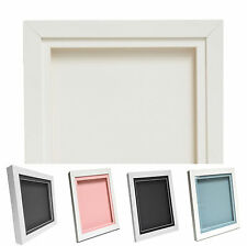 White 3D Deep Memory Box Picture Frame Display For Medals Memorabilia Flowers