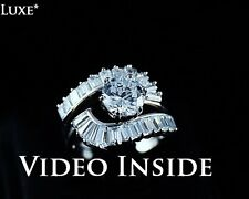 3.8 CT Round cut Diamond Solitaire Engagement Ring Solid In Sterling Silver