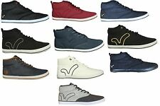 MENS NEW HI TOP BOOTS TRAINERS VOI MIRACLE IN BLACK WHITE NAVY GREY SALE PRICE