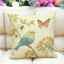Lovely Birds Cushion Covers Painting Print Cotton Linen Throw Pillow Case