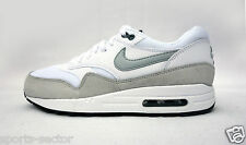 Nike Air Max 1 Essential Womens Trainers Casual Lace Up Shoes White/Grey