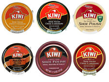 Kiwi Shoe Boot Polish Shine Leather Paste Protector 1 1/8 oz. Can - ALL COLORS