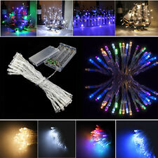 20/40 LED Battery Powered Fairy String Lights Twinkling Static Xmas Outdoor Tree