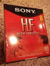 NEW Factory Sealed 8 Sony HF 90 BLANK High Fidelity Audio CASSETTE TAPES C-90HFL
