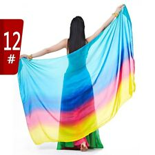 SV09# Belly Dance Colorful 100% Silk Veil Shawl Scarf 12 Colors