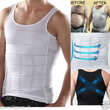 MENs Slimming Body Slim Shaper Belly Buster Underwear Vest Compression shapewear