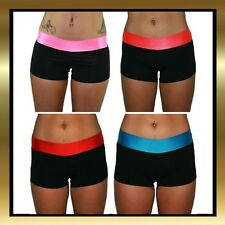 Black Lycra with Coloured Band Shorts