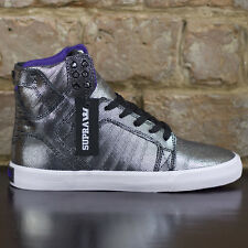 Supra Womens Skytop Muska Trainers new in box in Silver UK Size 4