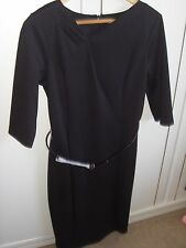 BNWT ladies smart black belted shift dress from TU. Size 14 UK