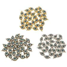 30pcs Alloy Evil Eye Charms Amulet Pendants for Jewelry Makings DIY