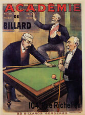 Fine Art & Poster Academie of Billard print on Paper or Canvas Giclee13X18 to 4