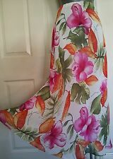 SKIRT LONG 16 44 LARGE L PAUL SEPARATES FLORAL FULLY LINED ELASTIC WAIST VGC