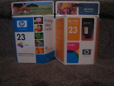 Lot of 2 HP C1823D Color Ink Cartridge Genuine OEM NEW C1823 1823 # 23