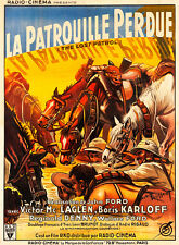 The Lost Patrol 1934 French Vintage Movie Poster