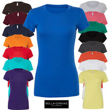 Bella+Canvas Ladies Short Fitted Sleeve Crew Neck Long Body T-Shirt Ladies Top