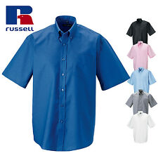 Russell Collection Short sleeve easycare Oxford shirt (J933M)