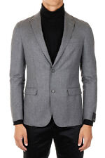 Z ZEGNA New Men Grey Single Breasted Solid Color Jacket Blazer NWT