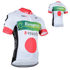 Bike Cycling Clothing Mens Short Sleeve Jersey Top Breathable Wear White Jacket