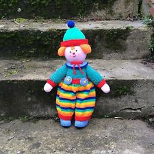 Hand knitted Clown doll / toy