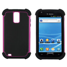 Cover for Samsung Galaxy S2 T989 S 2 Case T-Mobile Hybrid Hard Protection Armor