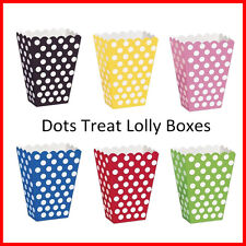 8 Polka Dots Treat Lolly Boxes Treat Box Birthday Party Favours Wedding Movie