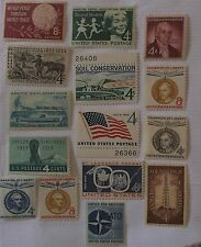 US Stamp 1959 Commemorative Year Set 1124-38  MNH Cat $3.75