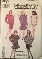 Simplicity Pullover Top/Skirt Pattern #8807, Sizes 8-14, Unused