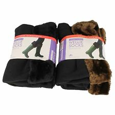 RJM Ladies fleece wellie socks SK282