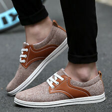 Mens Canvas Shoes Athletic Sneakers Outdoor Sports Running Breathable Comfort