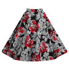 Beautiful Vintage Style Bubble Skirt A-line Pleated Skirt red