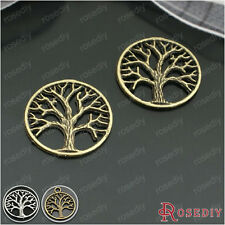 30PCS 20MM Alloy Round Tree Charms Pendants Jewelry Findings Accessories 24571