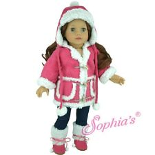 """Doll Clothes AG 18"""" Jacket Sherpa Hot Pink  Sophia's Fits American Girl Dolls"""