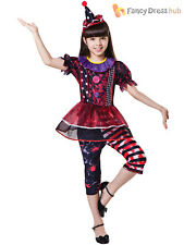 Childrens Creepy Clown Costume Girls Circus Halloween Fancy Dress Kids Outfit