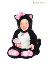 Baby Toddler Cat Costume Girl Childs Animal Fancy Dress Itty Bitty Kitty Outfit