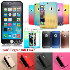 Luxury Hybrid 360° Shockproof Ultra Thin Case+Tempered Glass Cover For iPhone 6s