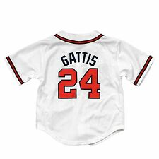 Atlanta Braves Evan Gattis Majestic Child Home Replica Baseball Jersey
